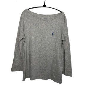Polo Ralph Lauren Boatneck 3/4 Sleeve Tee Grey S